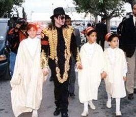 Michael Jackson with some young Tunisian friends.
