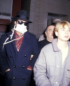 December 19, 1986 Michael Jackson Attends 'Little Shop of Horrors' at Beekman Theater in New York with Jonathan Spence