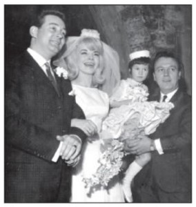 Johnnie Spence and Marion Horton's wedding. Singer Matt Munro (at right) was best man